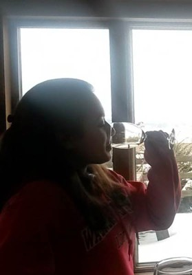Tasting room sipping silhouette